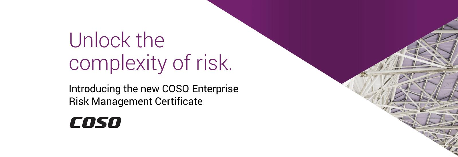 Coso Enterprise Risk Management Certificate Program Aicpa Certificates