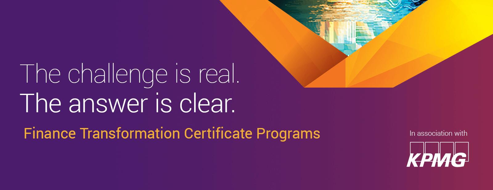 Finance Transformation Certificate Programs Aicpa Certificates